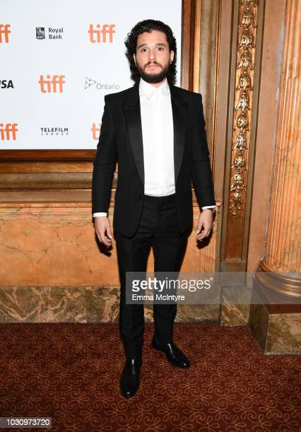 Kit Harrington attends the The Death And Life Of John F Donovan premiere during 2018 Toronto International Film Festival at Winter Garden Theatre on...