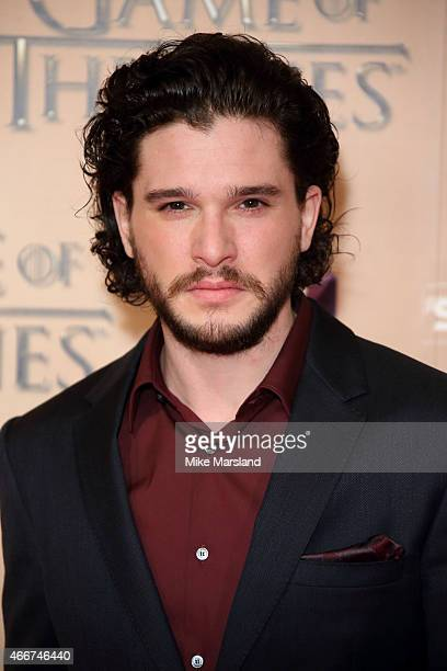 Kit Harrington attends the World premiere of Game of Thrones Season 5 at the Tower of London on March 18 2015 in London England