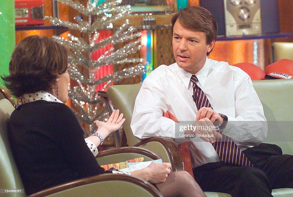 "ESPN's Kit Hoover Interviews North Carolina Senator and Presidential Hopeful John Edwards on ESPN's ""Cold Pizza"""