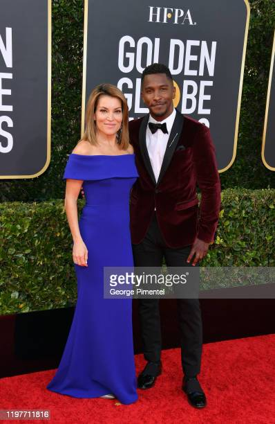 Kit Hoover and Scott Evans attend the 77th Annual Golden Globe Awards at The Beverly Hilton Hotel on January 05 2020 in Beverly Hills California