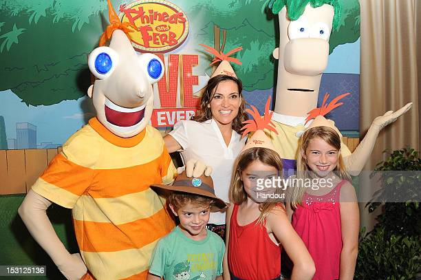 Kit Hoover attends a special event for Phineas and Ferb Live hosted by Disney at the Thousand Oaks Civic Arts Center on September 28 2012 in Los...