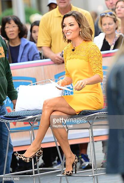 Kit Hoover is seen on the set of 'Access Hollywood Live' on September 22 2014 in New York City