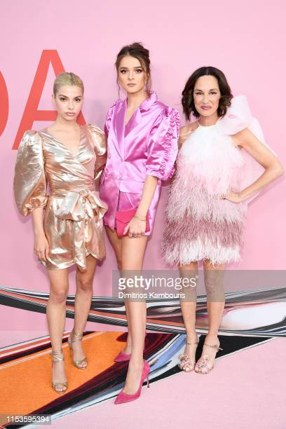 Kit KeenanCharlotte Lawrence and Cynthia Rowley attend the CFDA Fashion Awards at the Brooklyn Museum of Art on June 03 2019 in New York City