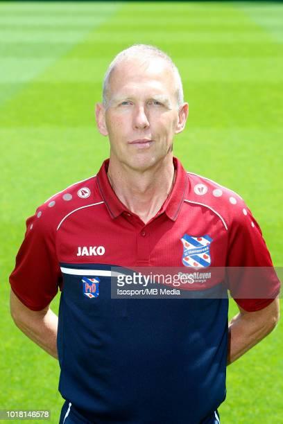 Kit man Piet van Dijk pictured during the 2018 2019 season photo shoot of Heerenveen on July 17 2018 in Eindhoven The Netherlands