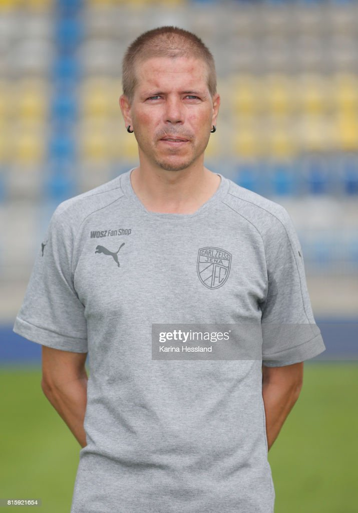Kit Manager Stefan Glasen of Carl Zeiss Jena poses during the team presentation at on July 17, 2017 in Jena, Germany.