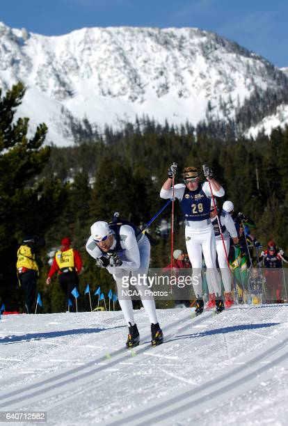 Kit Richmond and Matthew Philli Gelso of the University of Colorado race during the Men's 20k classic as part of the Men's and Women's Skiing...