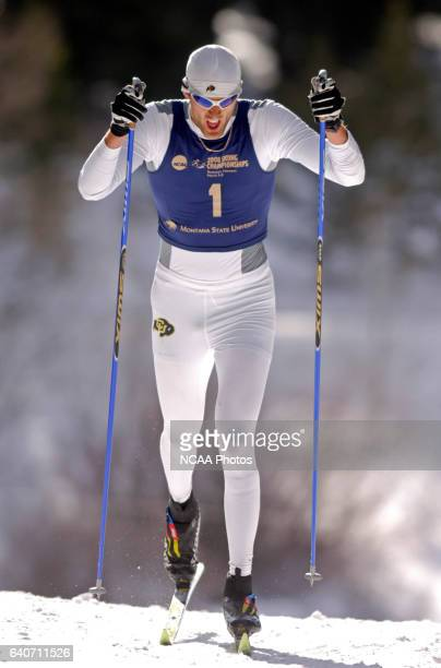 Kit Richmond of the University of Colorado races during the Men's 20k classic as part of the Men's and Women's Skiing Championships held at Bohart...