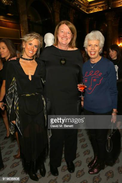 Kit Willow Marianne Hume and Francesca Fearon attend the Opening evening for the Australian Fashion Council's inaugural showroom in London...