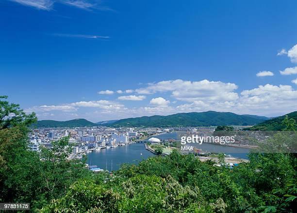 kitakami river, ishinomaki, miyagi, japan - miyagi prefecture stock pictures, royalty-free photos & images