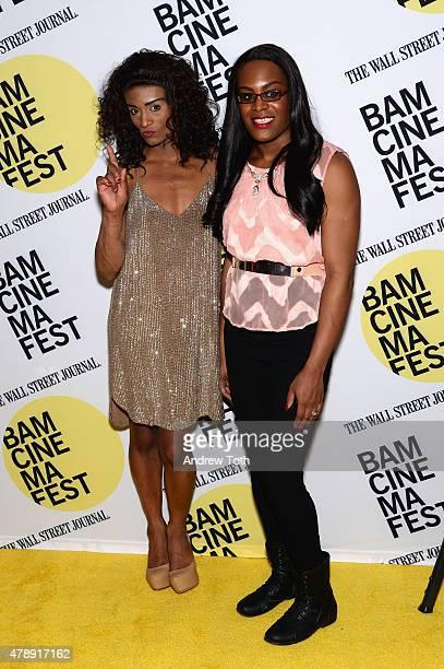 Kitana Kiki Rodriguez and Mya Taylor attend the Tangerine closing night premiere during BAMcinemaFest 2015 at BAM Peter Jay Sharp Building on June 28...