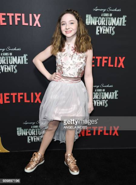 Kitana Turnbull attends the Netflix Premiere of 'A Series of Unfortunate Events' Season 2 on March 29 2018 in New York City / AFP PHOTO / ANGELA WEISS
