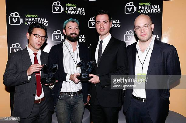Kitao Sakurai Andy BruntelCasey Pugh and Jeremy Boxer attend the Vimeo Festival and Awards at SVA Theater on October 9 2010 in New York City