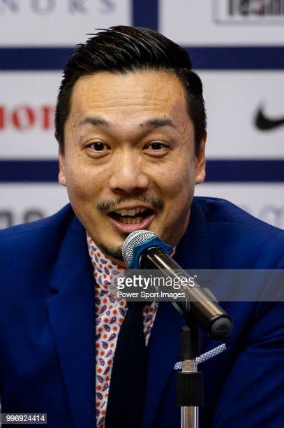 Kitchee FC General Manager Mr Wilson Ng talks during the press conference on July 12 2018 in Hong Kong