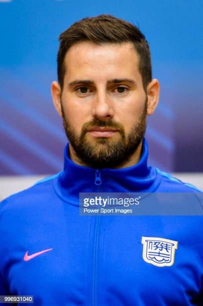 Kitchee FC soccer player Josip Tadic is introduced by Kitchee FC during the press conference on July 12 2018 in Hong Kong