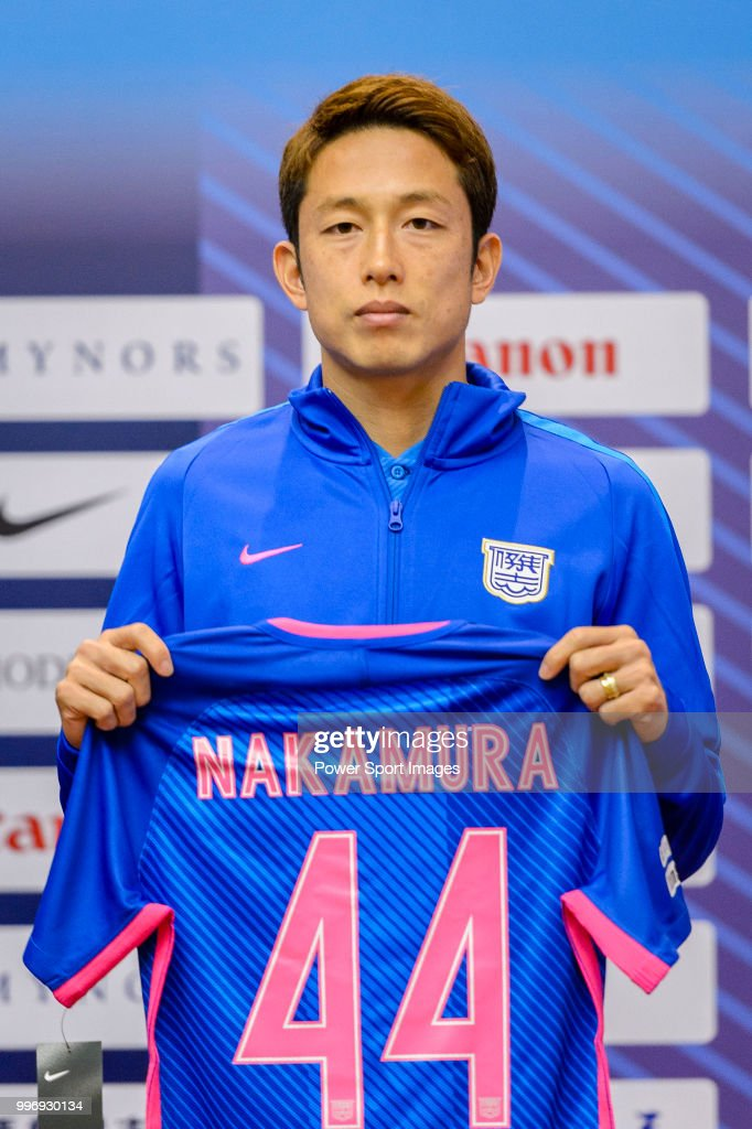 Kitchee FC soccer player Yuto Nakamura is introduced by Kitchee FC during the press conference on July 12, 2018 in Hong Kong.