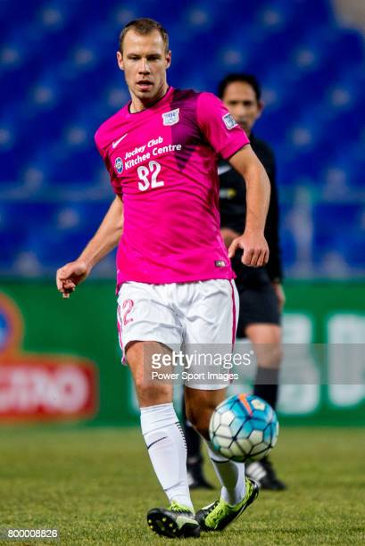 Kitchee Midfielder Krisztian Vadocz during their AFC Champions League 2017 Playoff Stage match between Ulsan Hyundai FC vs Kitchee SC at the Ulsan...