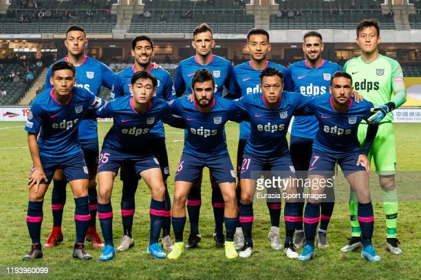 Kitchee squad poses for photos prior to the Hong Kong Premier League match between Hong Kong Pegasus and Kitchee at the Hong Kong Stadium on January...