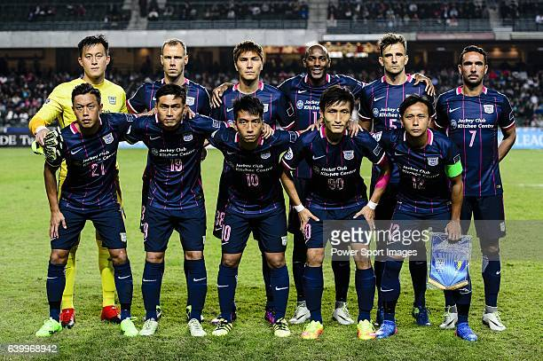 Kitchee Team poses for photos during the AFC Champions League 2017 Preliminary Stage match between Kitchee SC vs Hanoi FC at the Hong Kong Stadium on...
