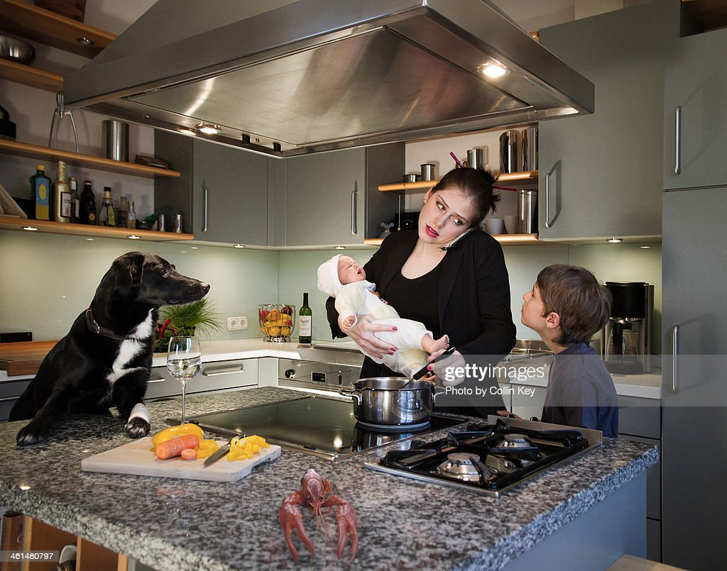 Kitchen and career : Stock Photo
