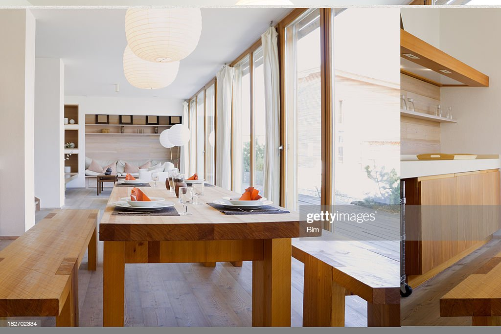 Kitchen and Dining Room : Stock Photo