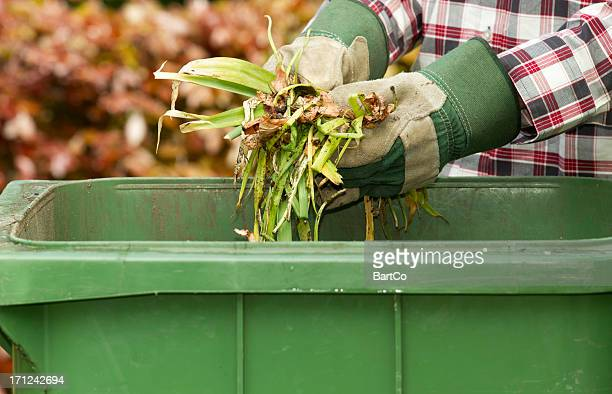 kitchen and garden waste - garbage bin stock pictures, royalty-free photos & images