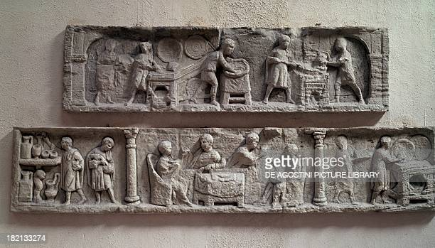 Kitchen and of banquet scenes reliefs Roman Civilisation