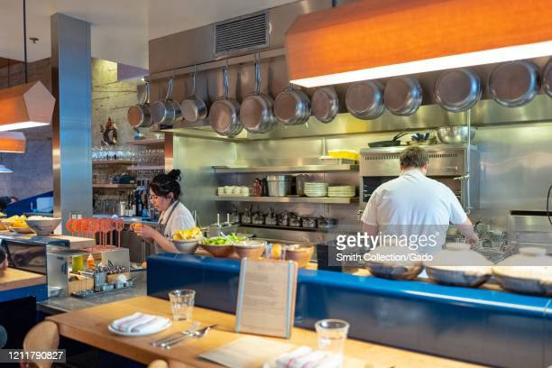 Kitchen area at State Bird Provisions a Michelin starred restaurant widely considered to be among the top restaurants in San Francisco in the...