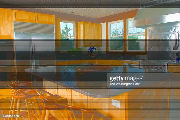 Kitchen area of Frank Hurley and Kit Dorrier's Bethany Beach Delaware beach home Jim Rill of Rill Architects designed the home and Bud Greene of...