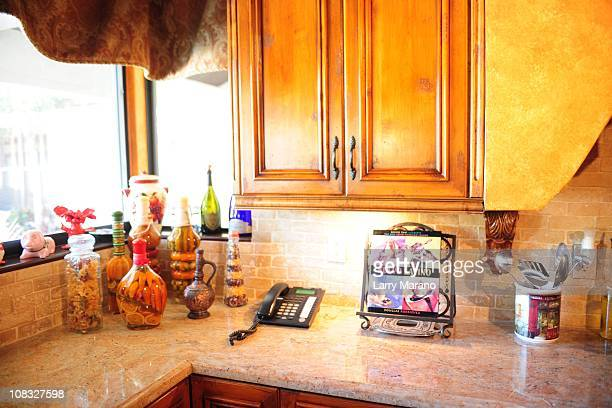 Kitchen at Jon Secada's home on January 13 2011 in Coral Gables Florida