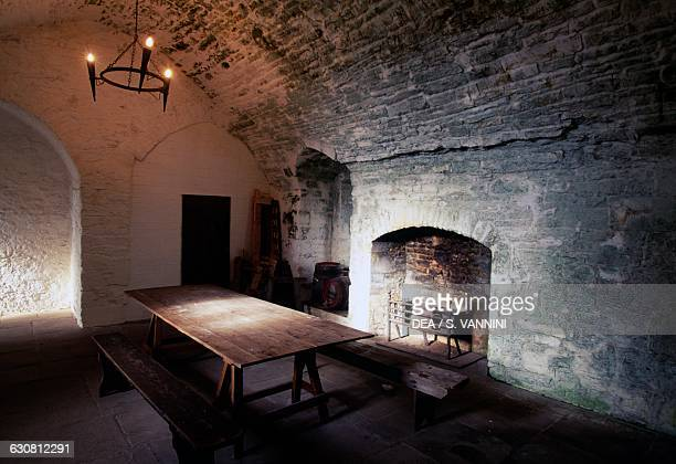 Kitchen Bolton Castle near Leyburn North Yorkshire England United Kingdom 14th century