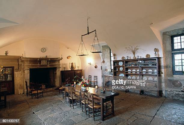 Kitchen Chateau de Cenevieres MidiPyrenees France 13th16th century