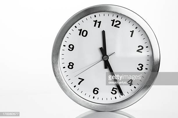 Kitchen clock on white backcground