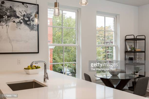 Kitchen Counter and Dining area in the two Bedroom Unit at Boneval on October 29, 2019 in Washington DC.