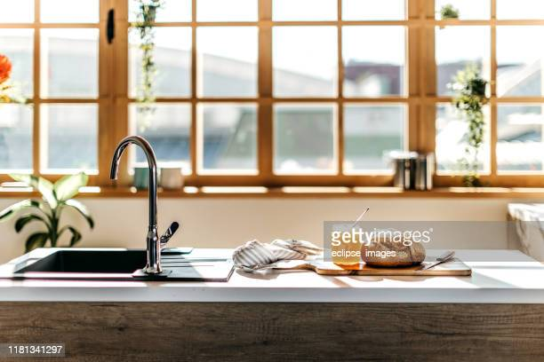 kitchen counter - domestic kitchen stock pictures, royalty-free photos & images