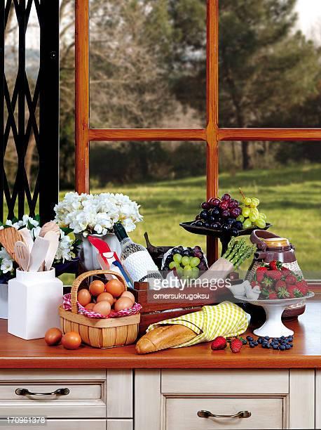 Küche mit Granitoberflächen