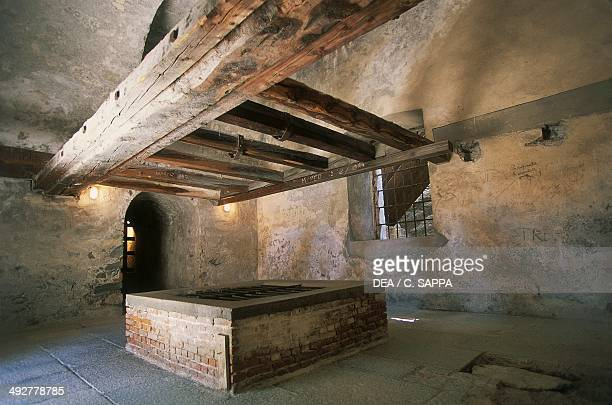 Kitchen Exilles fortress 14th19th century Susa Valley Piedmont Italy