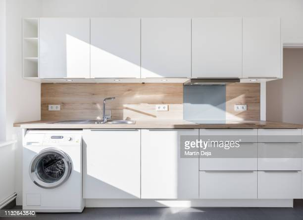 kitchen hdr - washing machine stock pictures, royalty-free photos & images