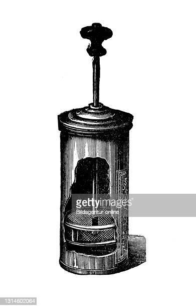 Kitchen implement, Protein - beater, historical kitchen appliances, Betty Gleim's cookbook, 1847 / Eiweiß - Schlagmaschine, historische Küchengeräte,...