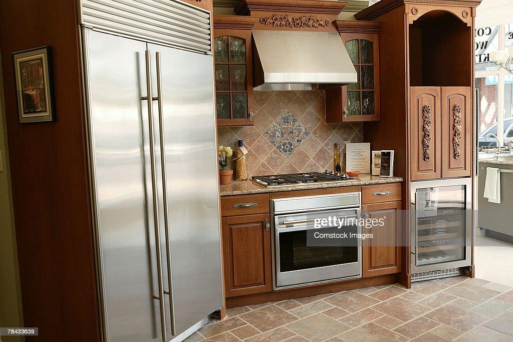 Kitchen in home : Stockfoto