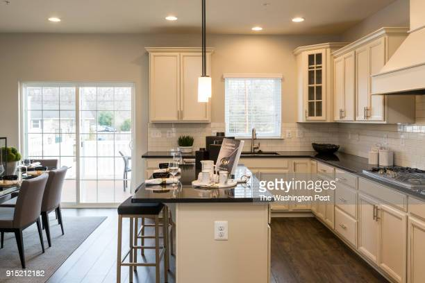 Kitchen in the Cambridge model home at Spring Creek on January 24 2018 in Laurel Maryland