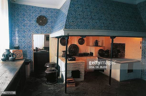 Kitchen in the Summer Palace 17101714 architect Domenico Trezzini St Petersburg Russia