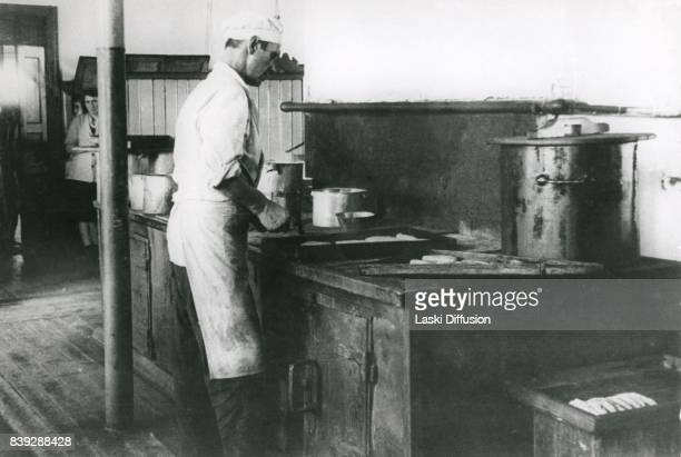 Kitchen in the Vorkuta Gulag one of the major Soviet labor camps Russia Komi Republic 1945