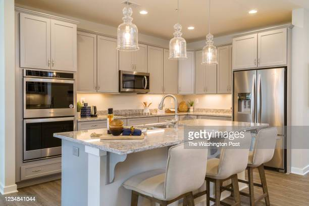 Kitchen in the Waverly Model Home at Hawthorne Greene on August 10, 2021 in La Plata Maryland.