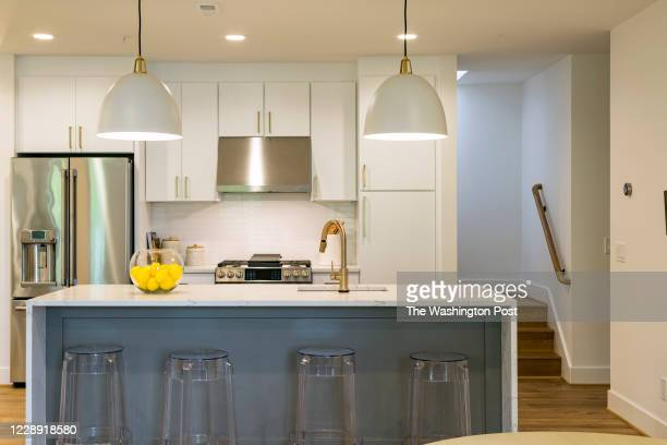 Kitchen in Unit 302 at District Quarters on October 1, 2020 in Washington DC.