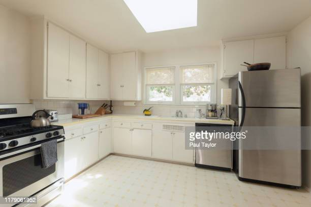 kitchen interior - empty fridge stock pictures, royalty-free photos & images