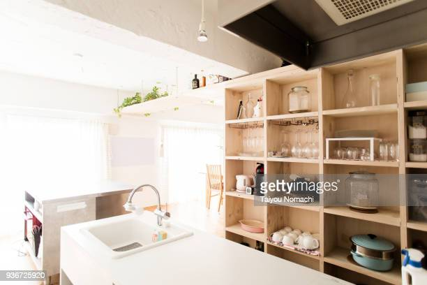 kitchen into which light comes in - kitchen utensil stock pictures, royalty-free photos & images