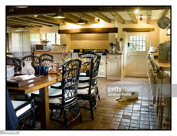 Kitchen of Princess MarieChantal's home 'Beale House' is photographed for Vanity Fair Spain on May 23 2009 in West Sussex England Published image