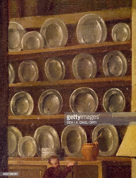 Kitchen of the Charterhouse of St Martin painting by an unknown 17th century artist