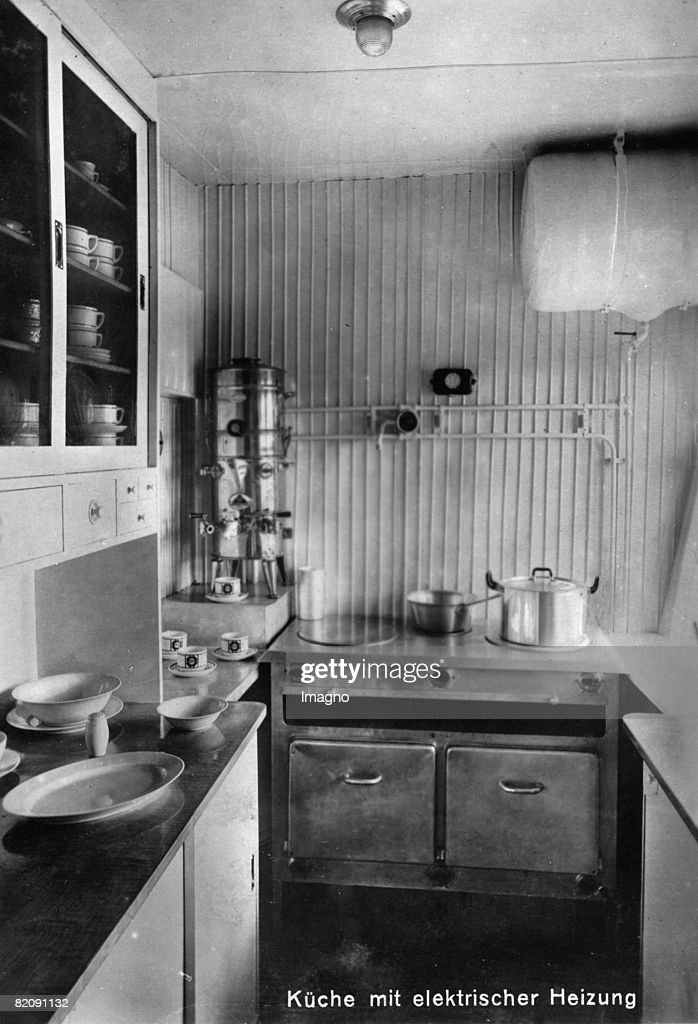 Kitchen Of The Zeppelin Airship LZ 127, Photograph, 1928