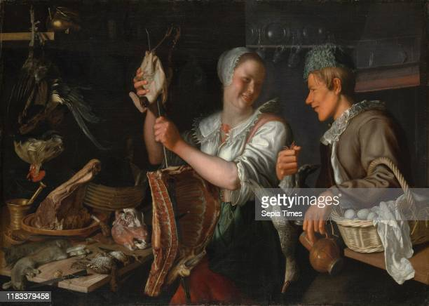 Kitchen Scene 1620s Oil on canvas 44 3/4 x 63 in Paintings Peter Wtewael